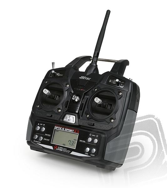 OPTIC 6 SPORT 2,4 GHz (mode 1), přijímač MINIMA 6S
