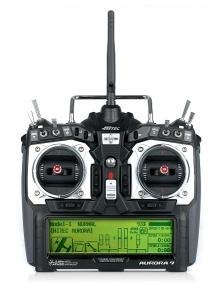 AURORA 9 2,4 GHz – vysílač s Tx akumulátorem a přijímačem Optima 9 (Mód 1)