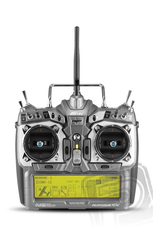 AURORA 9X 9-kanálový vysílač 2.4GHz,TX aku (mode 2)
