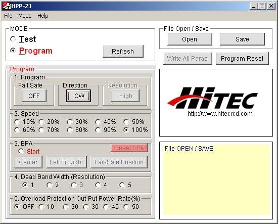 HPP-21 Tester a programátor digitálních serv s PC rozhraním (mini-USB)