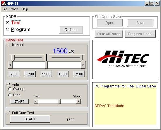 HPP-21 PLUS Tester a programátor digitálních serv s PC rozhraním (mini-USB)