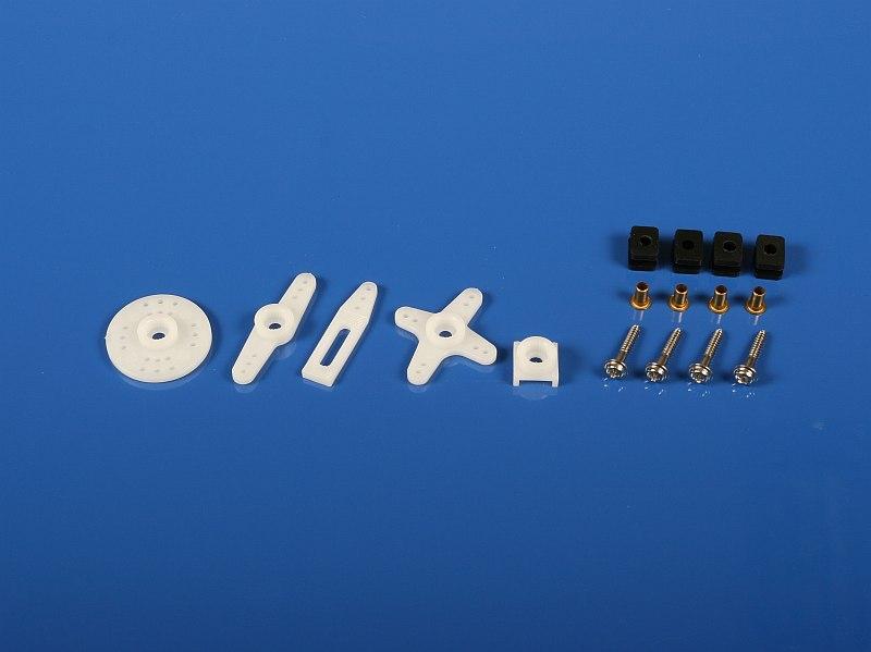 Náhľad produktu - 6317 Sada pák a montážneho príslušenstva štandardných serv Hitec