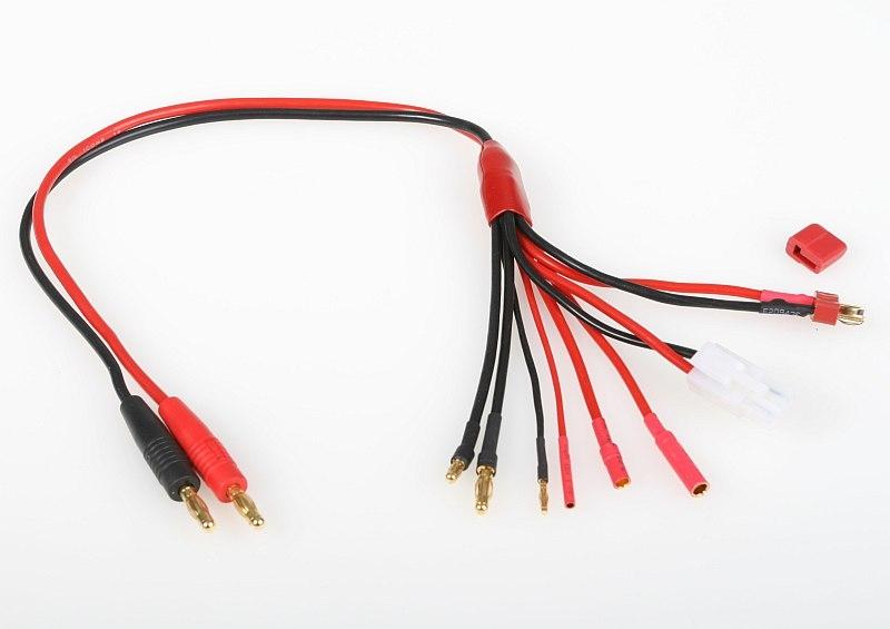 Náhľad produktu - Nabíjací kábel COMBO (Dean-T, Gold 2, 3.5, 4, Tamiya)