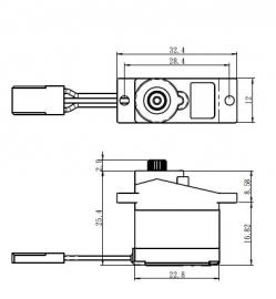 SH-0261MG digitálne servo (2,2 kg)