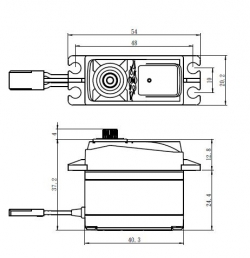 SH-1290MG Digitálne servo (5kg)