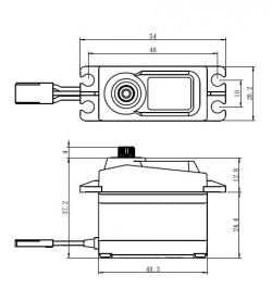 SC-1258TG Digitální servo (12kg)