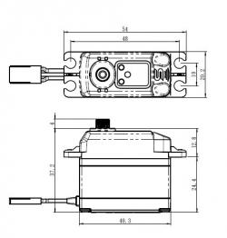 Náhľad produktu - SV-1270TG HI VOLT digitální servo (35kg)