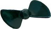 Náhľad produktu - Závodná lodná skrutka 2-listá, pravá, stúpanie 0,85, 55,0mm/M4