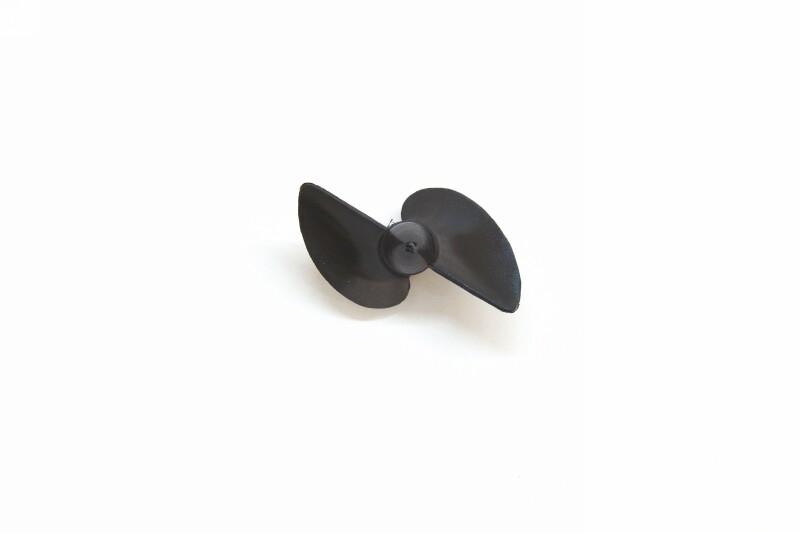 Náhľad produktu - Závodná oceľová lodná skrutka 2-listá, pravá, stúpanie 40mm, 43,5mm/M4