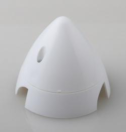 Náhľad produktu - Kužeľ 3-listý 70mm Biely Angl.