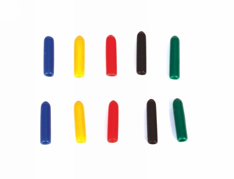 Koncové čepičky na vypínače, barevné, dlouhé, 10ks.
