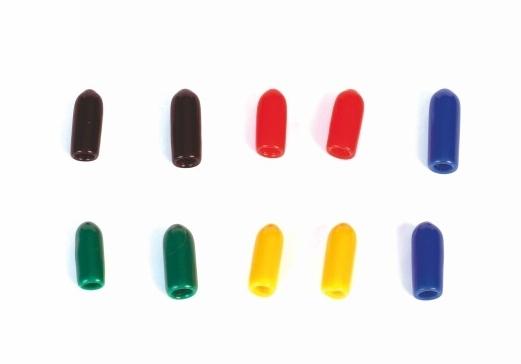 Koncové čepičky na vypínače, barevné, krátké, 10ks.