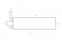 Ladený tlmič výfuku s výstupom na dymenie 50-55 ccm SILENCE