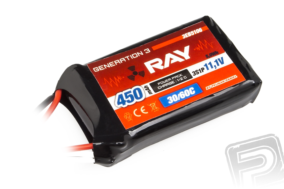 G3 - LC RAY Li-Pol 450mAh/11,1 30/60C Air pack 5,0Wh