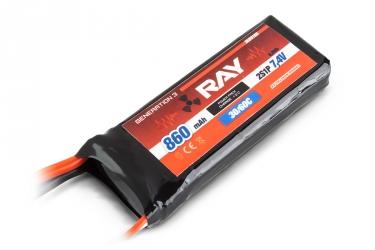 G3 - LC RAY Li-Pol 860mAh/7,4 30/60C Air pack 6,5Wh