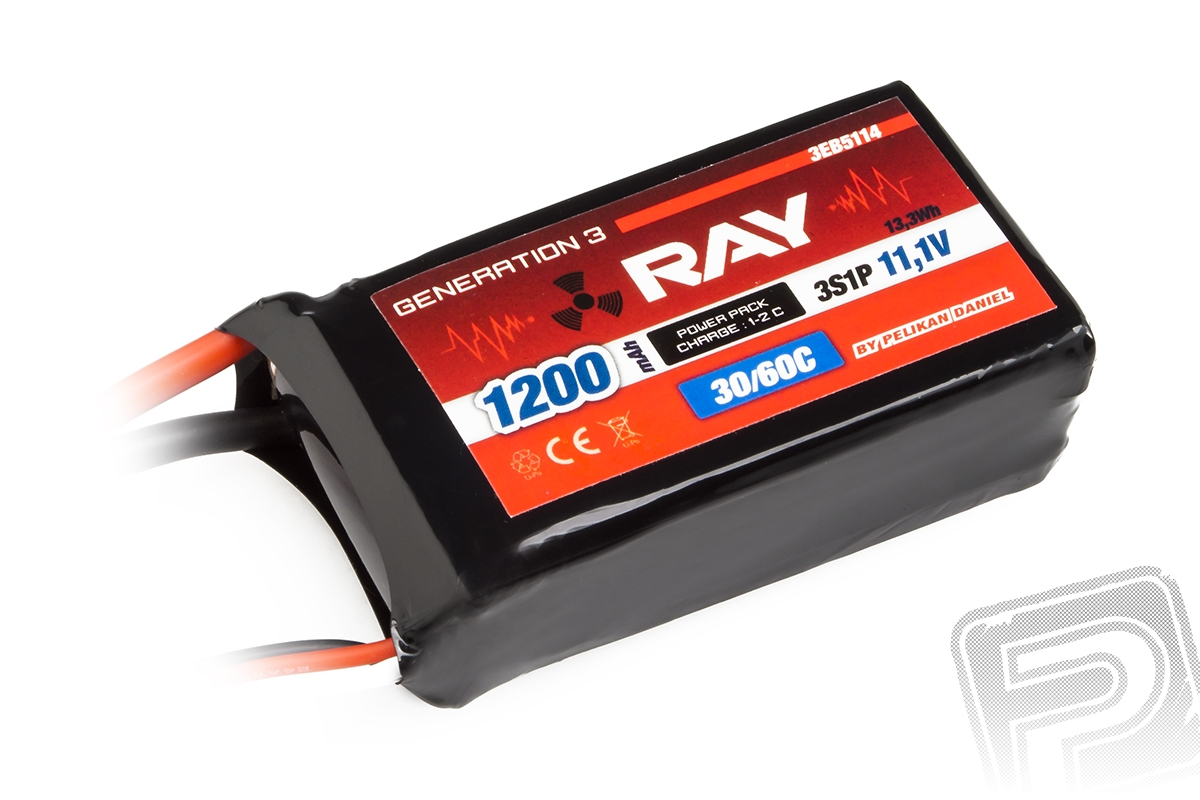 G3 RAY Li-Pol 1200mAh/11,1 30/60C Air pack 13,3Wh
