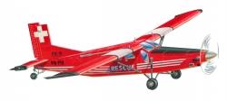 Náhľad produktu - Pilatus PC6 TurboPorter (662mm) laserom rezaný