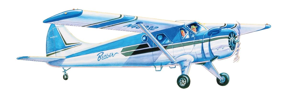 Náhľad produktu - DHC-2 Beaver (610mm) laserom rezaný