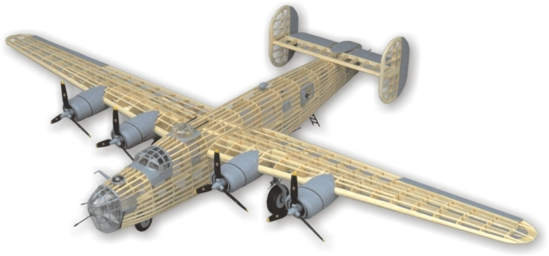 Náhľad produktu - B-24D Liberator 1:28 (1232mm)