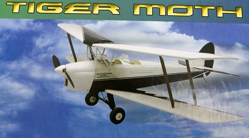 Náhľad produktu - Tiger Moth 889mm, laser. vyrezávaný (stavebnica)