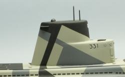 USS Bluefish ponorka 838mm