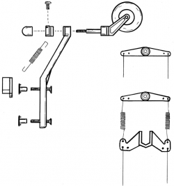 Maketová ostroha s kolieskom, (40-90)