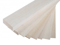 Náhľad produktu - Balzová doska ľahká, rozmer 80×1000 mm, hr. 5,0 mm