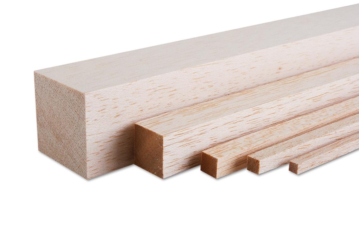 Náhľad produktu - Balsová lišta 4x4x1000mm