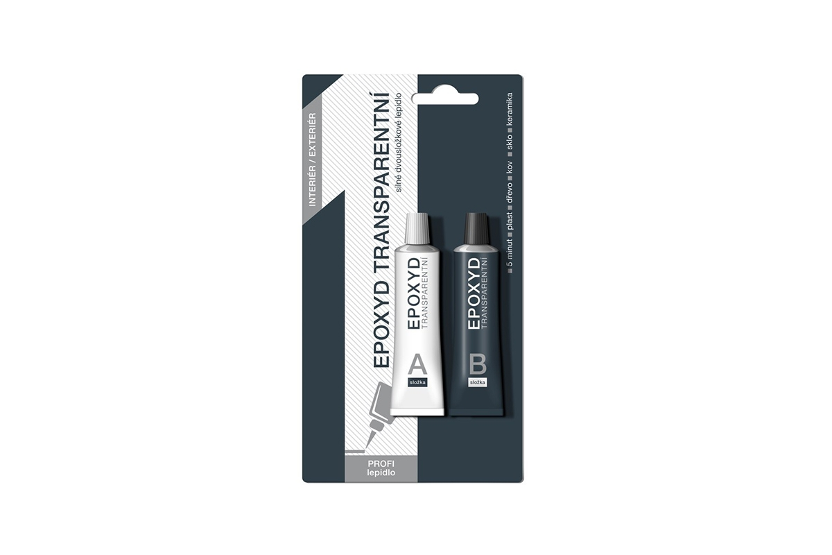 Náhľad produktu - CARTELL – 10minútové epoxidové transparentné lepidlo (2×12 g)