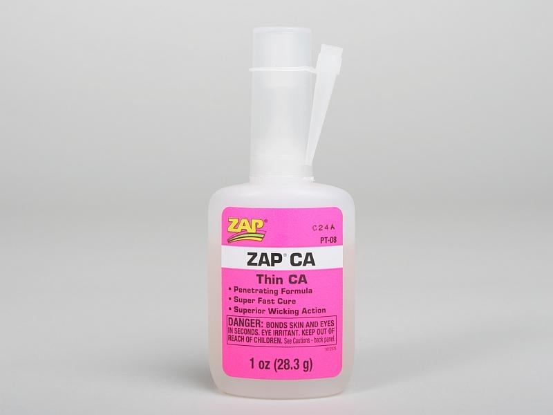 ZAP CA 28,3g (1oz.) řídké vteř.lepidlo