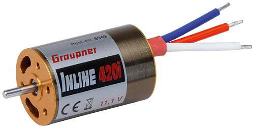 Náhľad produktu - GRAUPNER Inline 420i 11,1V inrunner brushless motor