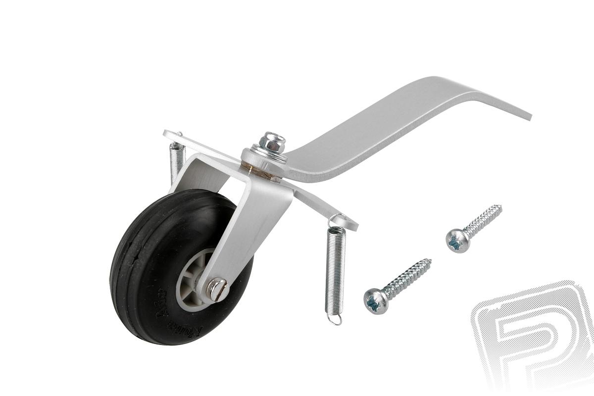 Náhľad produktu - Duralová ostroha 28mm stredná s kolesom