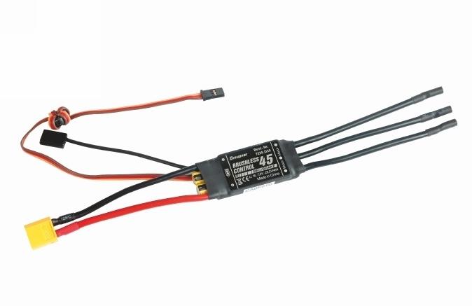 BRUSHLESS CONTROL 45 SBEC s XT-60 konektorem