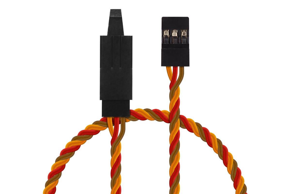Náhľad produktu - JR022 prodlužovací kabel kroucený 600mm JR s pojistkou (PVC)