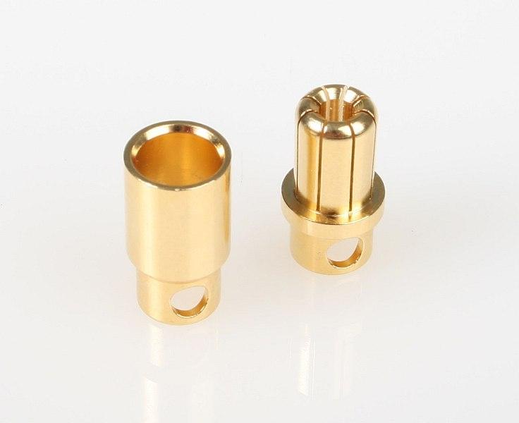 7948 G8.0mm 1 pár pružinový konektor zlatý