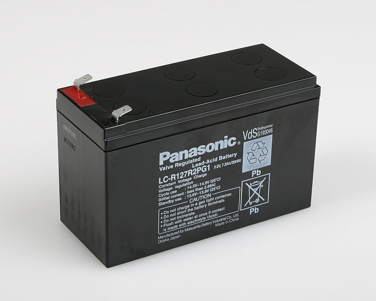 Náhľad produktu - Pb akumulátor Panasonic 12V 7,2Ah