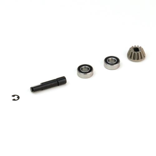 Náhľad produktu - Ozubené kolo s hřídelí 13zubů, včetně dvou kul. ložisek
