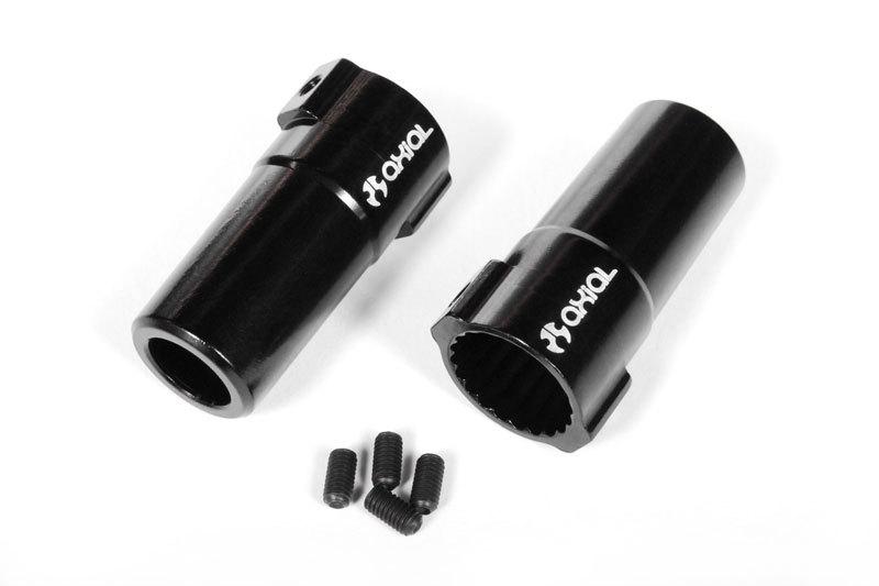 AR60 OCP hliníkové adaptery pevné nápravy (černé, 2 ks.)