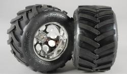 Monster Truck nalepené gumy, M směs, 14mm, 2ks.
