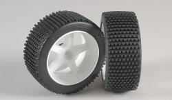 Náhľad produktu - Mini-Pin, M směs, nalepené, bílé disky, 2ks.