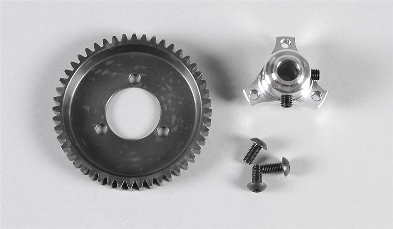 Náhľad produktu - Ocelové ozubené kolo 48 zubů včetně adaptéru, sada