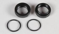 Náhľad produktu - Plastové matky nastavování, pro olej. tlumiče 16mm s O kroužky, 2ks.