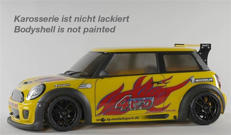 FG Sportsline 08 Mini Cooper, 2WD, RTR, čirá karoserie