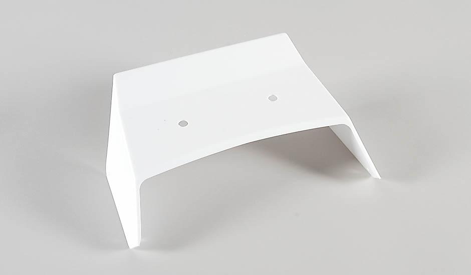 Náhľad produktu - Zadný lexanový spojler Stadium/Street Truck biely, 1ks.