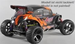 FG Off-Road Beetle WB535 4WD 1/6 model, RTR s 2,4GHz, transparentná karoséria