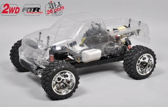 FG Stadium Truck , 2WD - Limitovaná alu verze, RTR, čirá karoserie