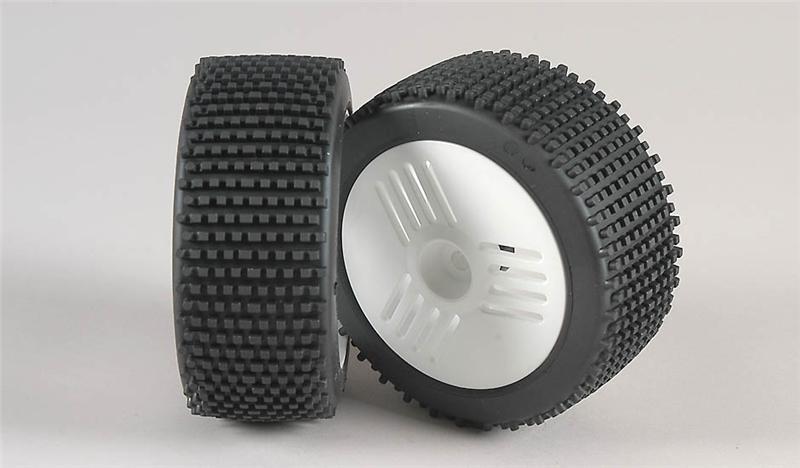 Náhľad produktu - Mini - Pin M/OR-nalepené gumy na LEO bílých diskách, 2ks.