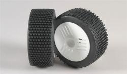 Mini - Pin H/OR-nalepené gumy na LEO bílých diskách, 2ks.