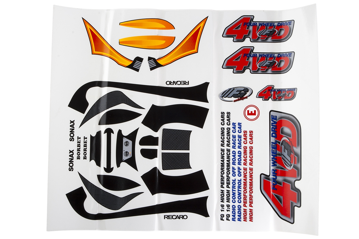 Náhľad produktu - Sada nálepek pro Baja Buggy 4WD RTR.
