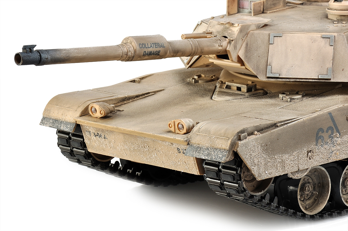 M1A2 Abrams 1:16 RC tank 2.4GHz, patinovaný